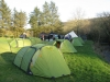 Early evening back at Westermill farm campsite at Wildbike base camp